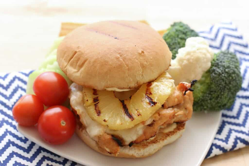 Hawaiian Sweet and Spicy Grilled Chicken Sandwiches recipe by Barefeet In The Kitchen