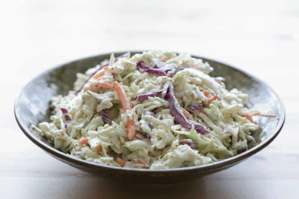 Classic Memphis Style Coleslaw recipe by Barefeet In The Kitchen