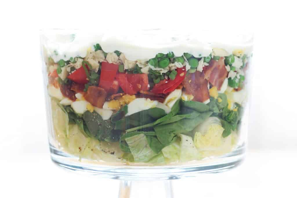 Seven Layer Salad recipe by Barefeet In The Kitchen