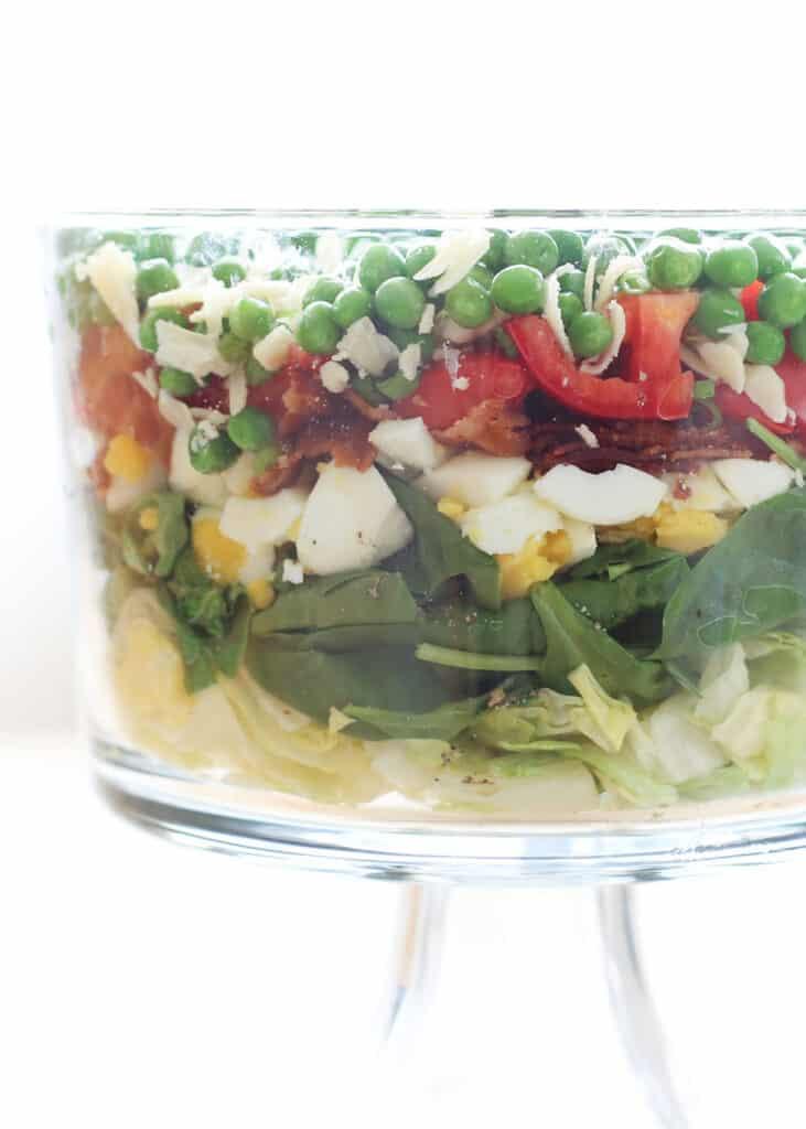 Seven Layer Salad Barefeetinthekitchen Com
