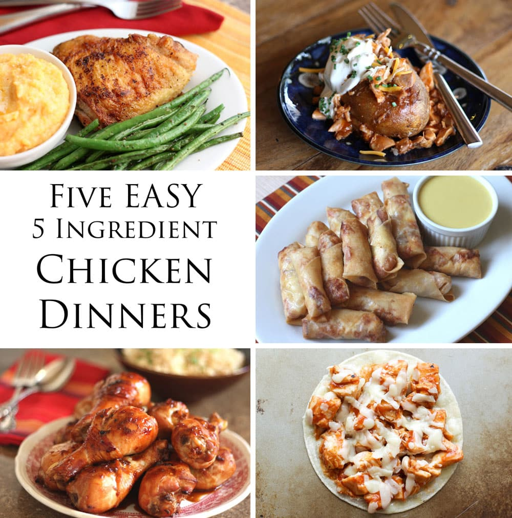 Easy five ingredient chicken dinners for Cuisine 5 ingredients