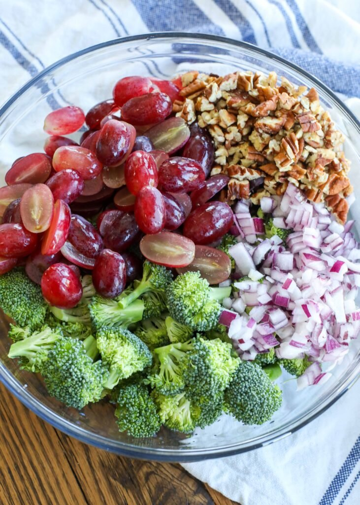 Broccoli Grape Salad is a summer favorite.