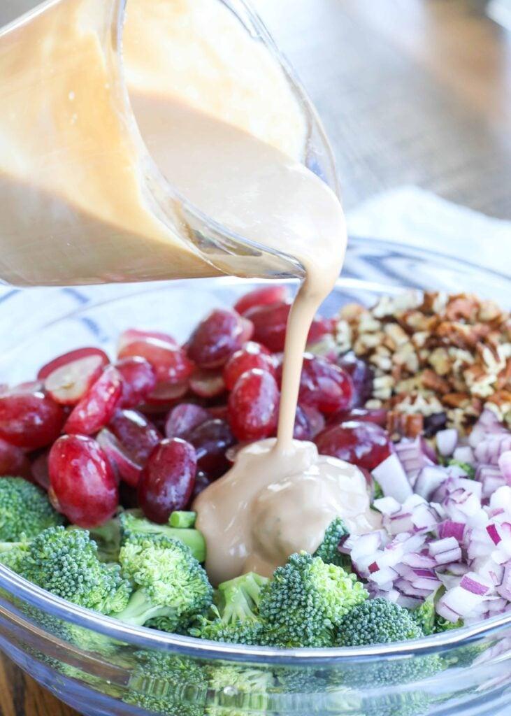 Broccoli Grape Salad with Balsamic Dressing