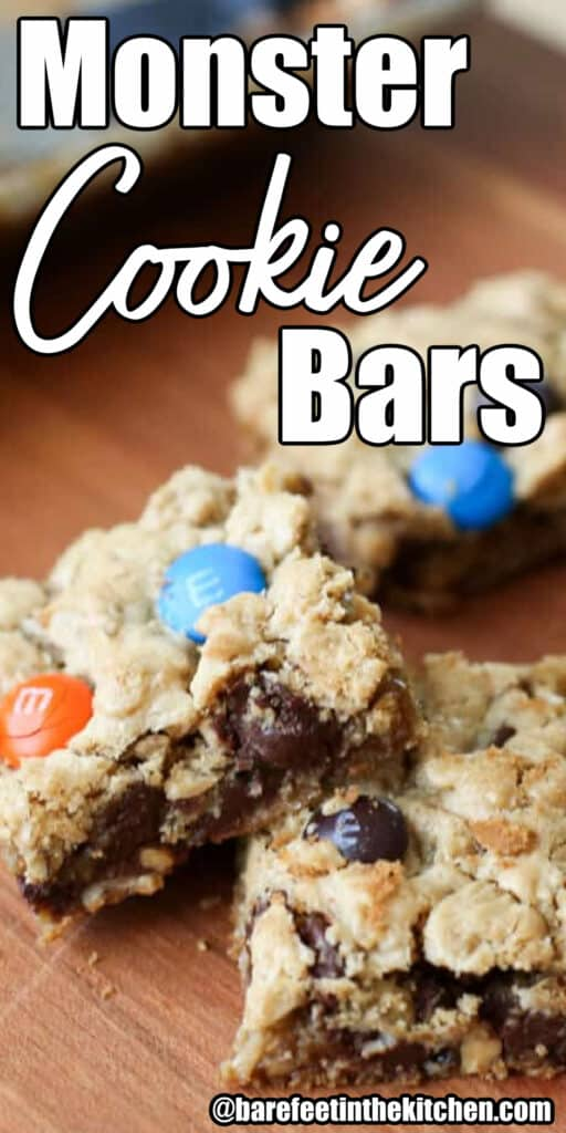 Monster Cookie Bars are a crowd favorite!