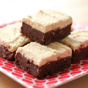 Rich Chocolate Brownies with Peanut Butter Frosting {traditional and gluten free recipes}