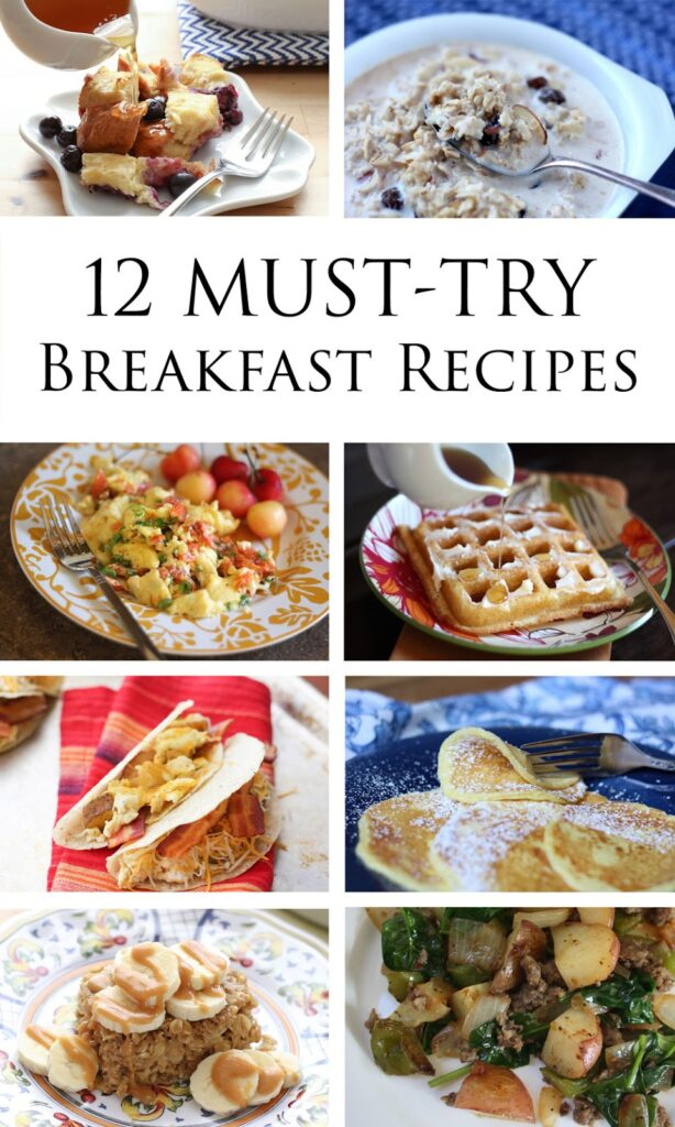 12 Must-Try Breakfast Recipes (gluten free versions included!) by Barefeet In The Kitchen