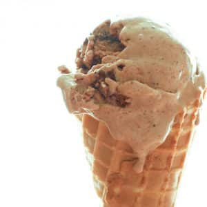 Brownie Ice Cream with Chewy Brownie Chunks