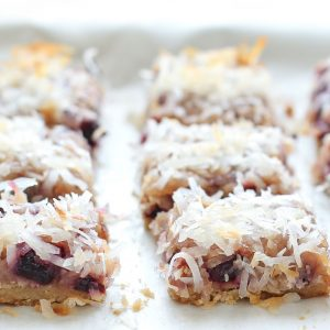 Cherry Coconut Bars {traditional and gluten free recipes}