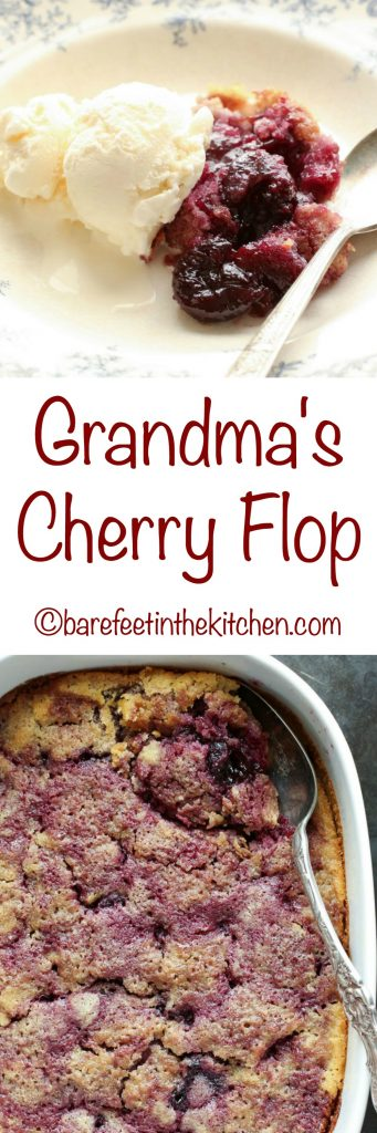 Grandma's Cherry Flop is a family favorite that you're going to love! Get the recipe at barefeetinthekitchen.com