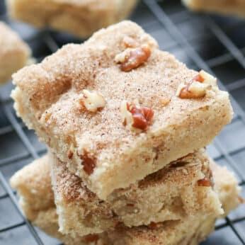 Cinnamon and Pecan Shortbread Bars