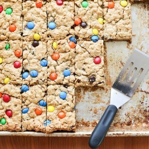 Monster Cookie Bars {naturally gluten free recipe}