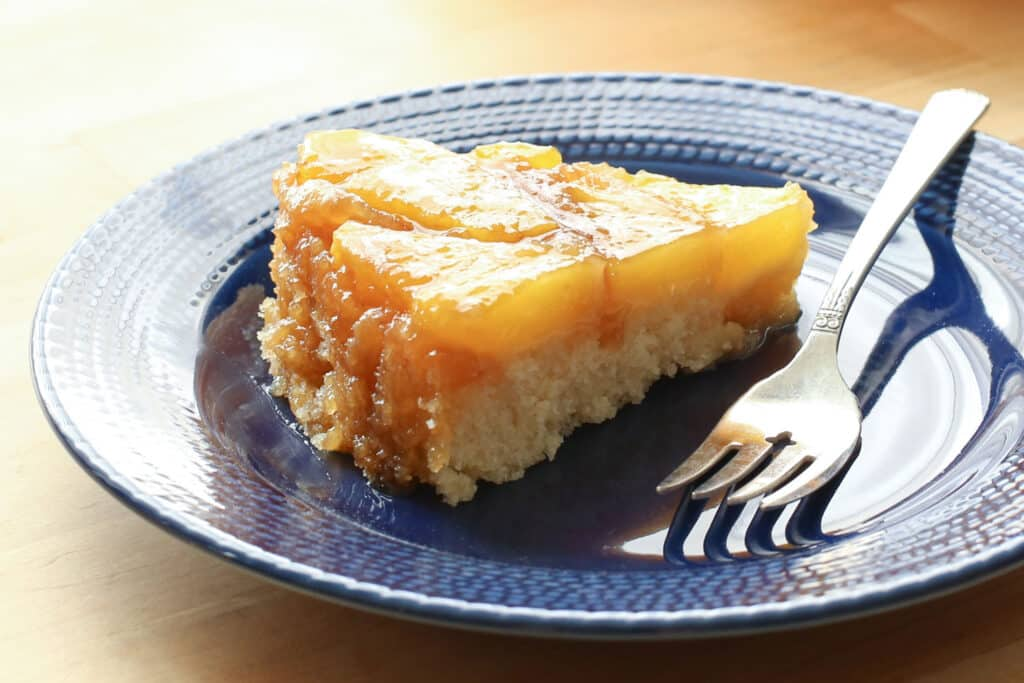 Fresh Pineapple Upside Down Cake (traditional and gluten free recipes) by Barefeet In The Kitchen