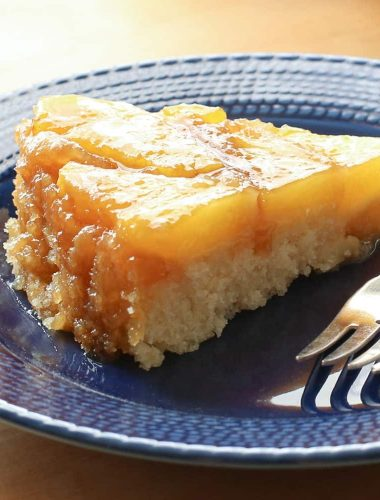 Fresh Pineapple Upside Down Cake {traditional and gluten free recipes}