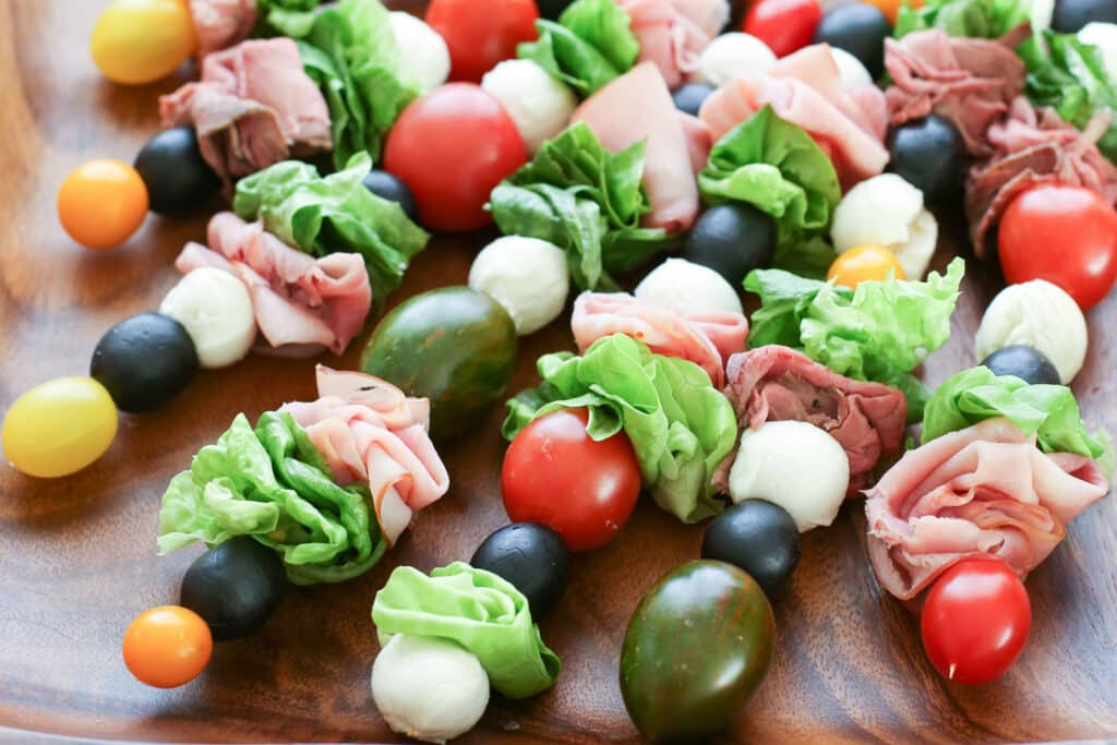 {Kid Friendly} Salad On A Stick recipe by Barefeet In The Kitchen