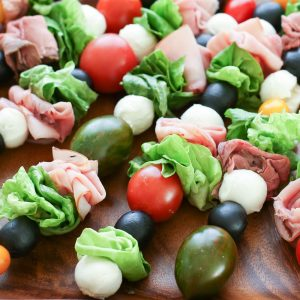 {Kid Friendly} Salad Snack On A Stick