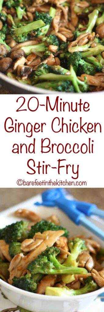 Ginger Chicken And Broccoli Stir Fry -4534