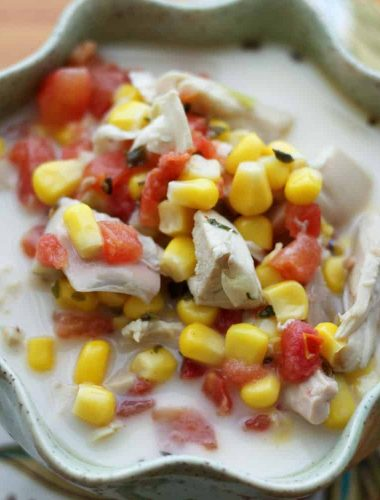 Creamy Mexican Chicken and Corn Soup