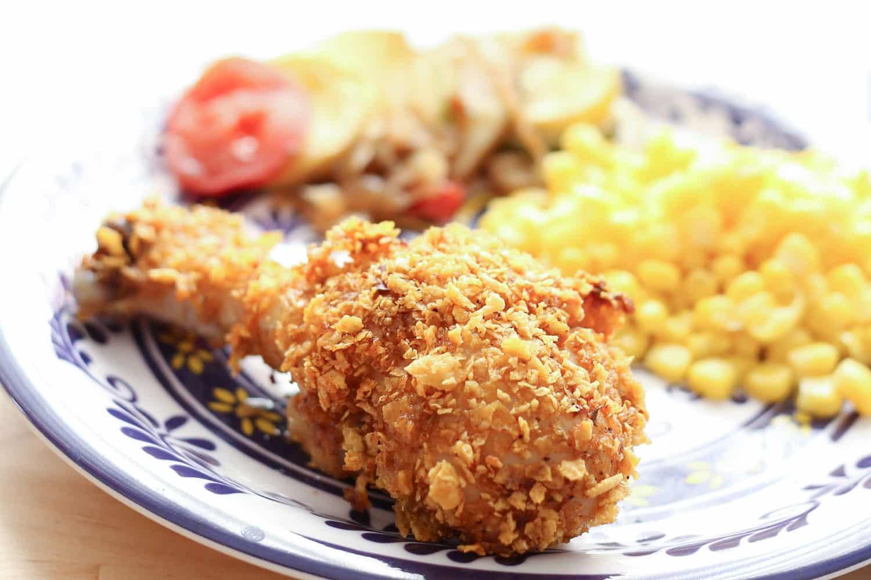 Crunchy Baked Chicken | barefeetinthekitchen.com