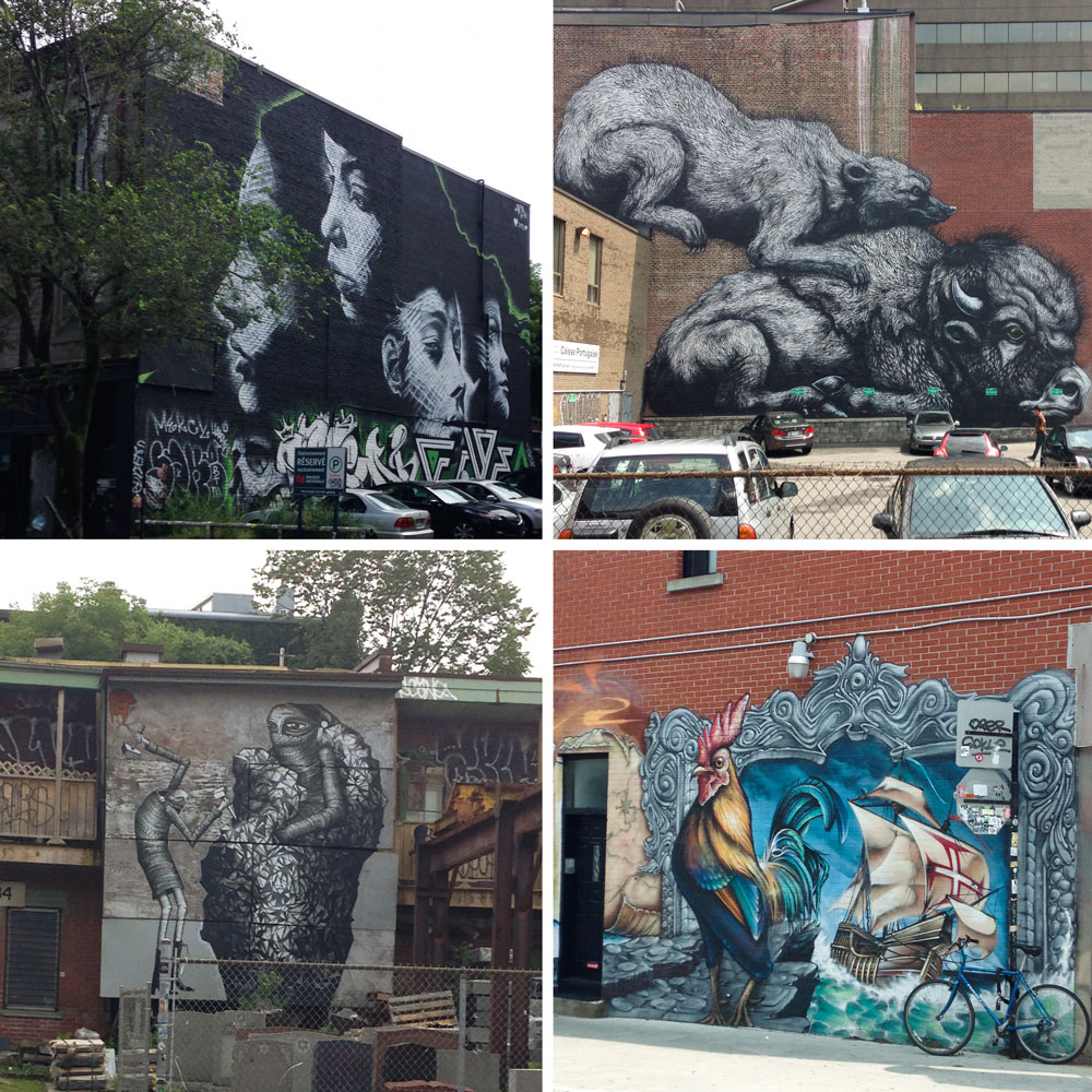 A walking tour of street art in Montreal's Plateau District - by Barefeet In The Kitchen