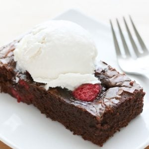 Chocolate Raspberry Brownies {traditional and gluten free recipes}