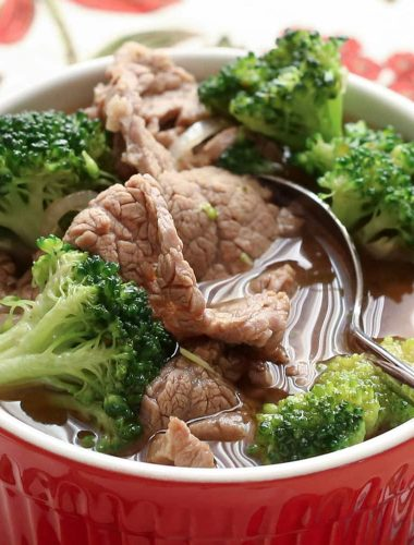 Chinese Beef and Broccoli Soup