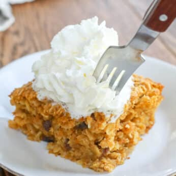 Hearty, warm, Pumpkin Spice Oatmeal is a kid favorite! get the recipe at barefeetinthekitchen.com