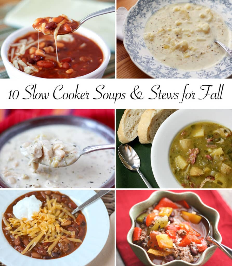 10 Fabulous Slow Cooker Soup and Stew Recipes by Barefeet In The Kitchen