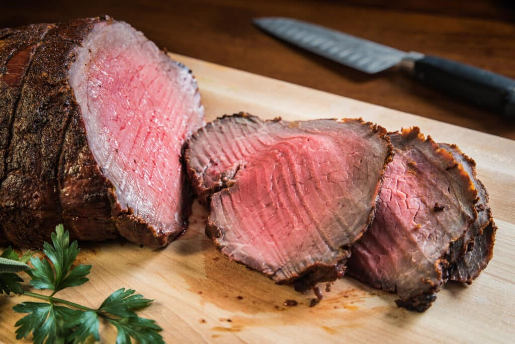 Southwestern Crusted Roast Beef - recipe by Barefeet In The Kitchen