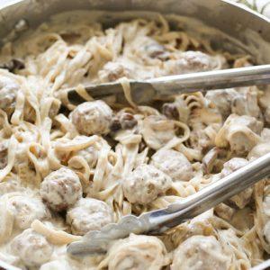 Meatball Stroganoff Fettuccine