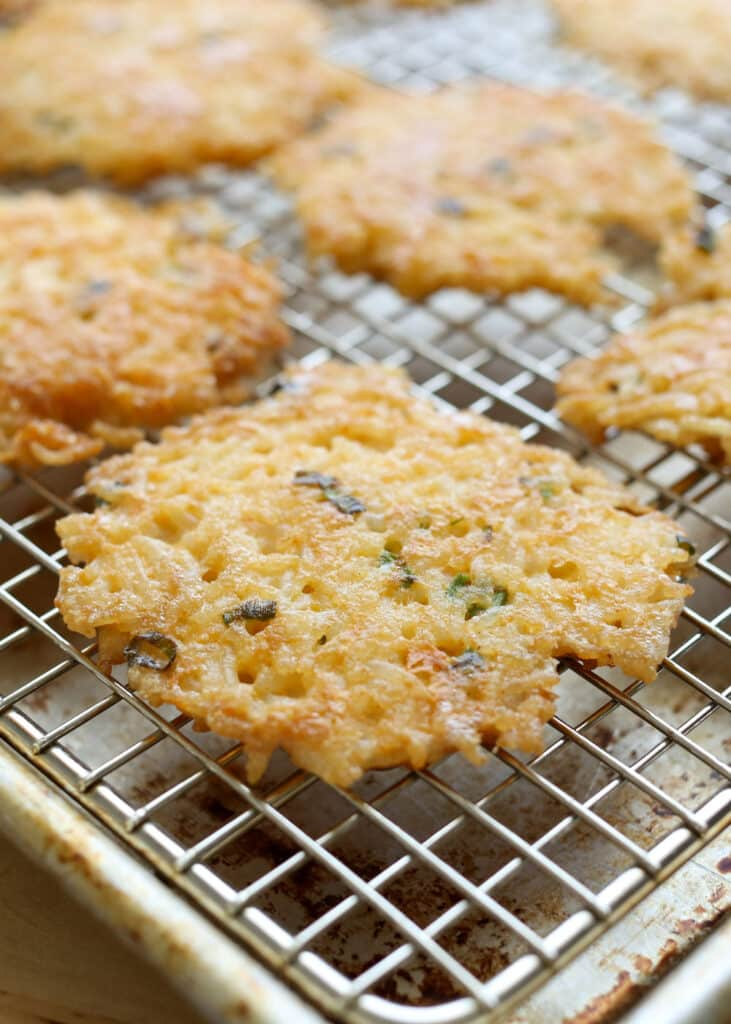 Crispy {Savory} Rice and Egg Pancakes are great for breakfast, lunch, or dinner!