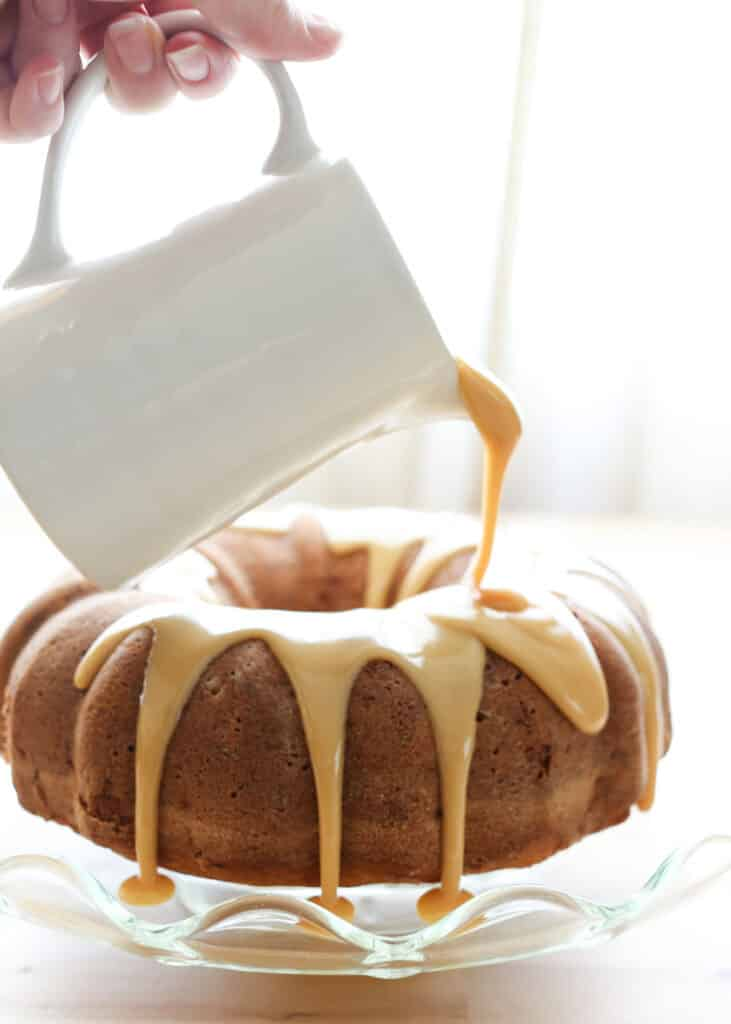 Brown Sugar Pound Cake {traditional and gluten free recipes included}