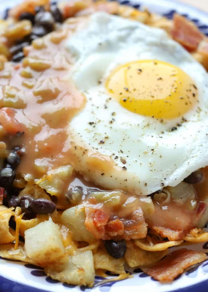 Frito Pie Huevos Rancheros Recipe - the ultimate Mexican breakfast food!