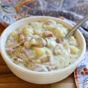 Slow Cooker Potato Ham Chowder
