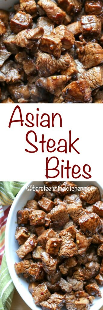 Asian Steak Bites take just a few minutes to make and the result is bite-size pieces of the juiciest steak you will ever eat!