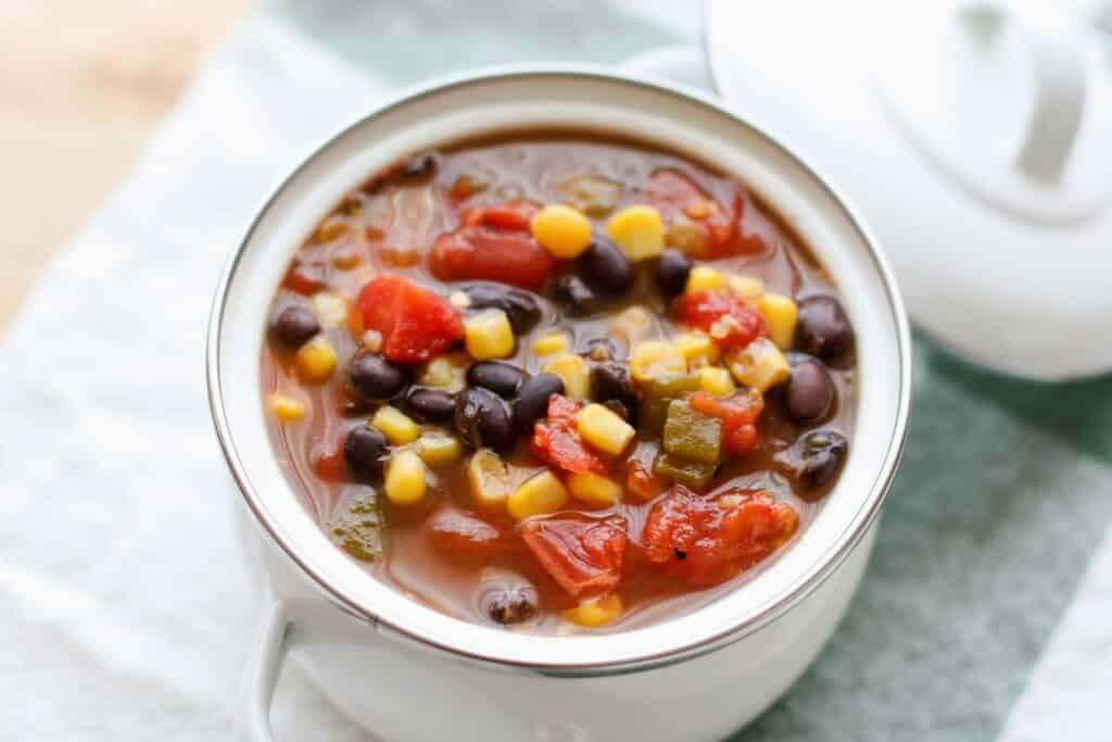 Green Chile Bean and Vegetable Soup