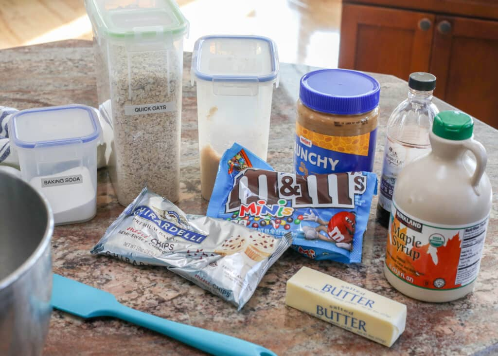 Ingredients for Monster Cookie Dough Bites