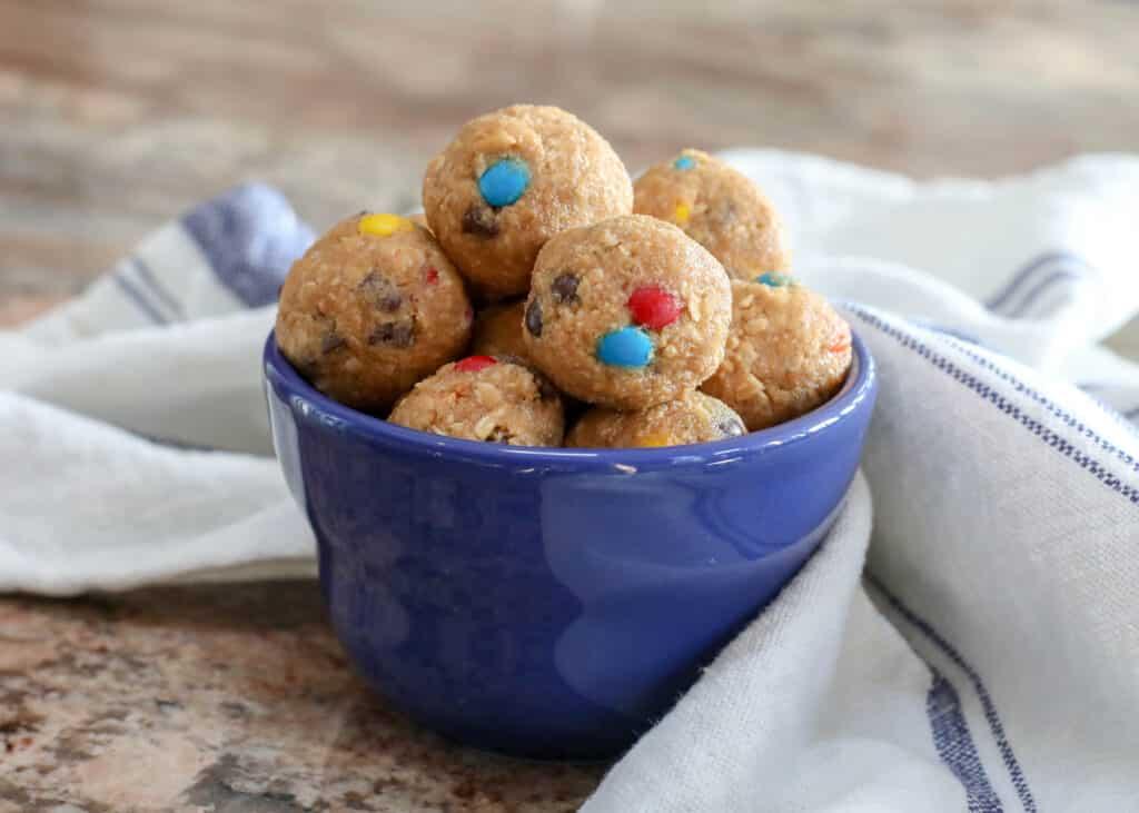 Monster Cookie Dough Bites