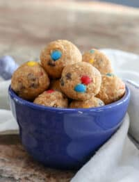 Bite Size Cookie Dough is a fantastic sweet snack!