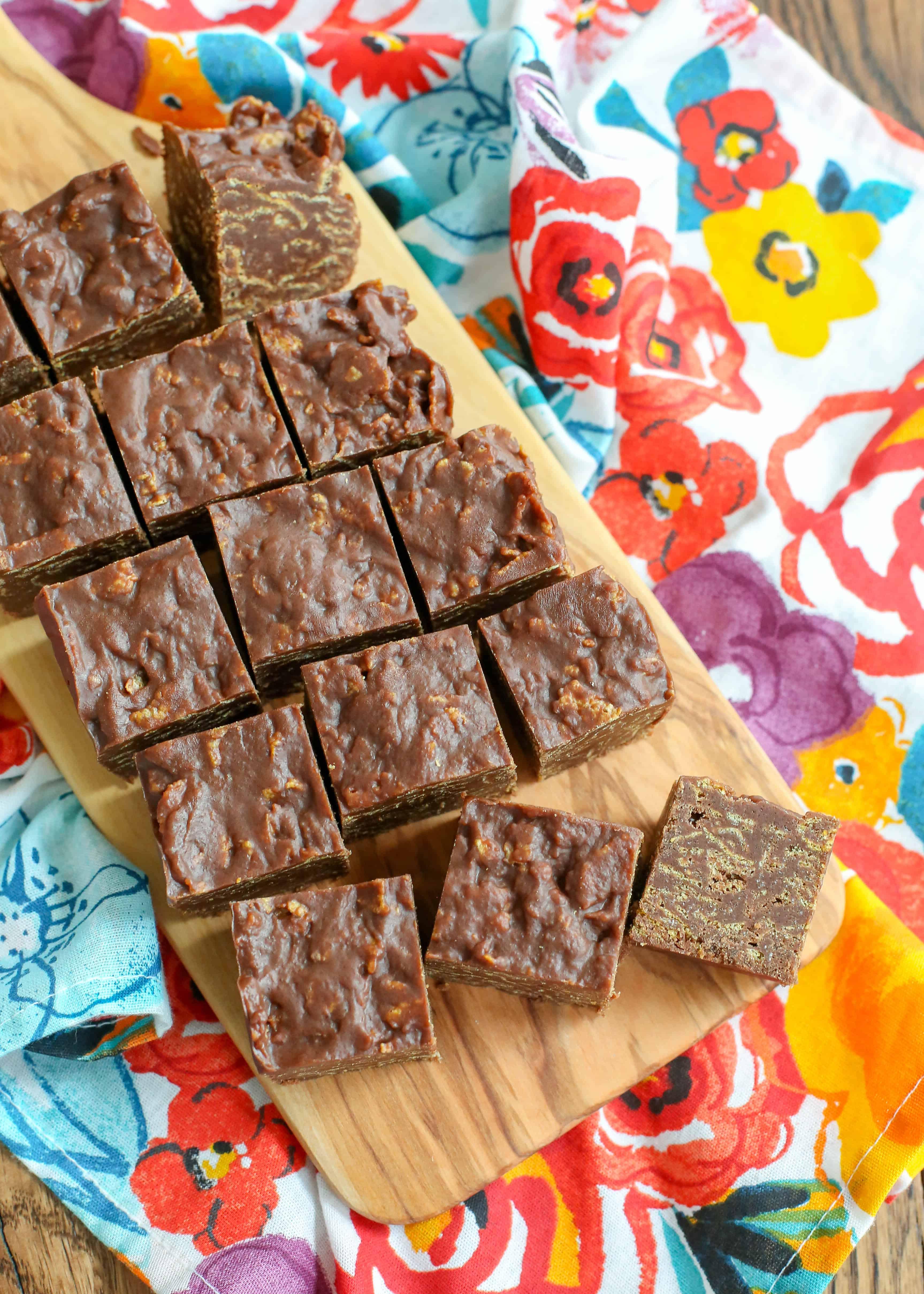 No Bake Chocolate Crunch Bars