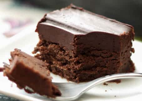 Cold Chocolate Snacking Cake - get the recipe at barefeetinthekitchen.com