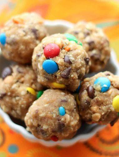 Monster Cookie Dough Bites {naturally gluten free recipe}