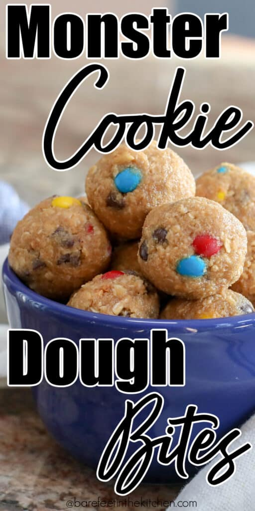 Monster Cookie Dough - in bite-size snackable form!