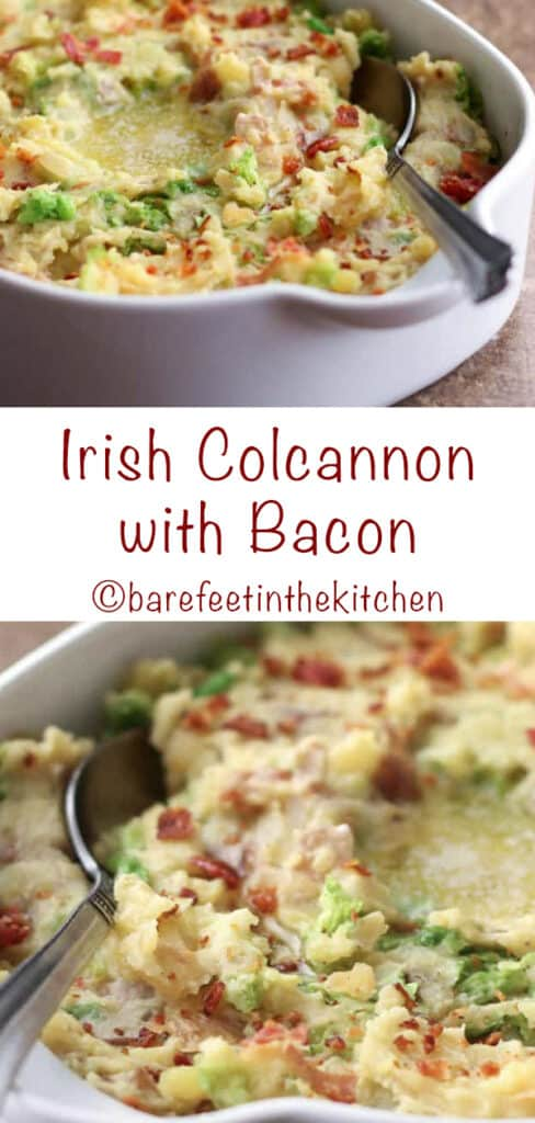 Irish Colcannon is a St Patrick's Day favorite that you'll enjoy year round! get the recipe at barefeetinthekitchen.com