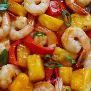 Sweet and Spicy Pineapple Shrimp Stir Fry