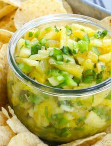 Pineapple Salsa is a fresh twist on snacking - you're going to love it.