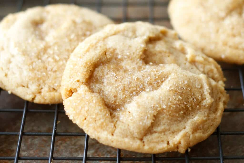 Crisp, Chewy, Peanut Butter Cookies {traditional and gluten free recipes included}