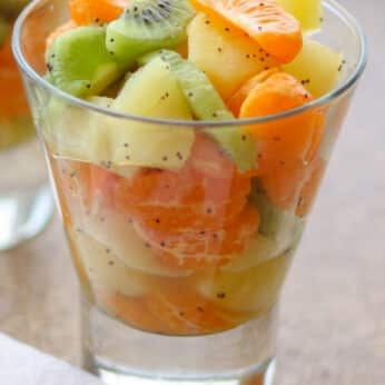 Honey Lime Winter Fruit Salad is a hit with everyone!