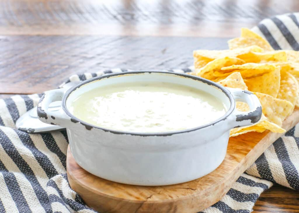 We love this restaurant style queso dip!
