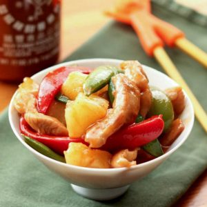 The whole family goes crazy over this Sweet and Soup Chicken Stir Fry - get the recipe at barefeetinthekitchen.com