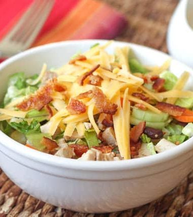 Chopped Salad with Bacon Chipotle Ranch Dressing